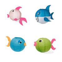 Wholesale Fish Lantern Animal Paper Lantern For Children Toys Hanging from china suppliers
