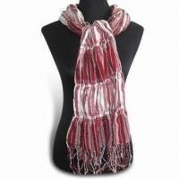 China Paisley Style Scarf in Fashionable Design, Made of Polyester for sale
