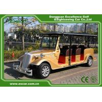 Golden 6 Person Electric Classic Cars 48V Trojan Battery Retro Golf Cart for sale
