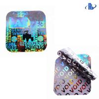 China 3D Holographic Security Labels Warranty VOID Anti-Counterfeit Laser Sticker for sale