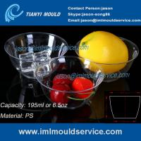Quality 200ml thin wall PS disposable plastic ice cream bowls injection mould with lids for sale