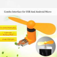 Wholesale 2016 New products 2 in 1 OTG micro mini usb fan for cell Phones and usb port from china suppliers