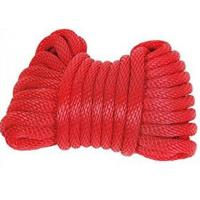 Wholesale polyester double solid diamond 3-strand twist rope code line from china suppliers