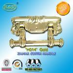 Best Size 22.5*13cm Ref H014 Gold Color Metal Coffin Handles Zamak European Design wholesale