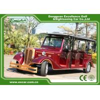 Classic Design Red Vintage Golf Car Tourist Car With CE Approved for sale