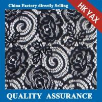 Wholesale New white 100% nylon floral lace fabric for lady dresses or scalloped lace fabric from china suppliers