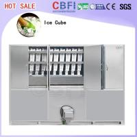 Commercial Ice Maker / Ice Cube Making Machine With PLC Central Program Control