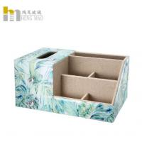 China Classic Creative Desk Organizer Box Combined With Tissue Box Multiple Function for sale