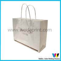 Fashional Plain Full Color Printing White Kraft Paper Bags With Handles for Advertisement for sale
