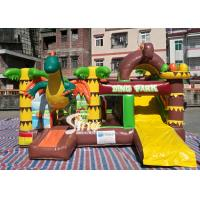 Wholesale Dinosaur Park Inflatable Bounce Slide Combo Jumping Castle With Slide For Inflatable Games from china suppliers