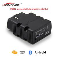 China Bluetooth Android Car Scanner Elm327 Konnwei Kw902 Apply To OBD 16 PIN 12V Vehicels for sale