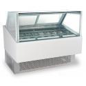 240V/50Hz Ice Cream Cake Display Freezer , Air Cooling Ice Cream Fridge with for sale