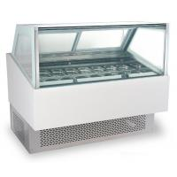 240V/50Hz Ice Cream Cake Display Freezer , Air Cooling Ice Cream Fridge with 1800mm Length for sale