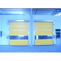 Blue Yellow PVC Interior Door , Industrial Workshop Doors