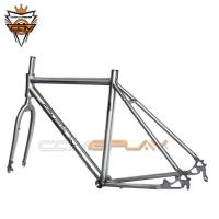 Wholesale Custom Titanium Bike Frame Travel Bicycle Disc Brake Compatible To  25c / 28c from china suppliers