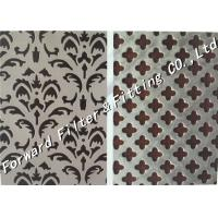 Best Light Weight Perforated Steel Sheet / Decorative Metal Screen Corrosion Resistance wholesale