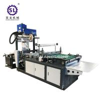 China LDPE Side Sealing DHL Courier Bag Making Machine With Hotmelt Glue Device on sale