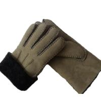 Wholesale Spanish Merino Sheepskin Double Face Leather Winter Gloves Hand Sewn Men Gloves from china suppliers