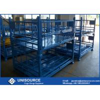 Quality Size Customized Foldable Metal Box Heavy Duty Metal Pallet Cage For Warehouse for sale