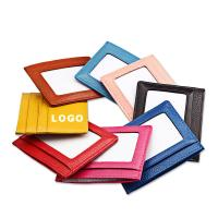 China Colorful Promotional Leather Card Bag Card Container Logo Customized for sale