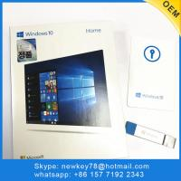 China Genuine Korean Microsoft Windows 10 Home fpp / OEM Software download 64 bit USB license activation win 10 home for sale