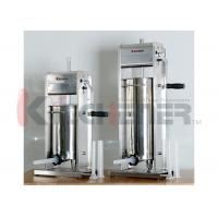Wholesale Dual Gears Stainless Steel Sausage Stuffer Hand Crank 20LB Meat Filler FDA from china suppliers