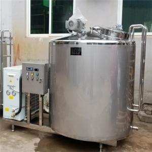Quality 1000L 2000L Raw Fresh Yogurt Milk Cooling Storage Holding Vat Vessel Tank for sale