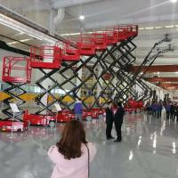 Wholesale 12m hydraulic scissor lift self-propelled scissor lift with extended platform from china suppliers