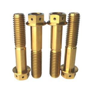 Quality Flange Bolt Screw M10 80l 6al-4v Titanium Grade 5 Hex Torx Hexagon Head Screw for sale