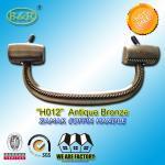 Best 18.7*7.6 cm size metal coffin handle H012 zinc alloy funeral hardware zamak screw rod bronze color wholesale