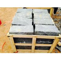 China Black Residential Construction Granite Bathroom Tiles Bush Hammered on sale