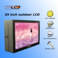 Wholesale 55'' High brightness 2000nits 55inch floorstanding portrait and landscape format outdoor advertising lcd display from china suppliers
