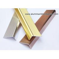 Wholesale Anti Slippery Aluminum Stair Nosing / Edging / Brace With 45mm X 20 mm from china suppliers