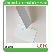 China best white cards 13.56Mhz MF S50 Proximity IC Smart Card Tag 0.8mm Thin For Access Control System ISO14443A for sale