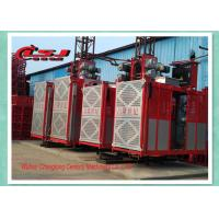 Wholesale Competitive prices 34m speed twin cage 2000kg capacity rack and pinion elevator from china suppliers