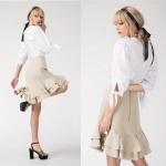 China Girl Knee Length Mini Skirts for sale