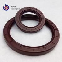 Wholesale Brown color FKM FPM metal framework double lip oil seal TC profile from china suppliers