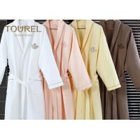 China White Flannel Cotton Hotel Quality Bathrobes Colorful Luxury Spa Robes on sale