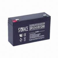 Wholesale 6V AGM Battery with 12Ah Normal Capacity, Suitable for Electric Toys and Emergency Lamp from china suppliers