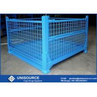Quality Warehouse Stackable Foldable Metal Box Wire Mesh Container For Logistics for sale
