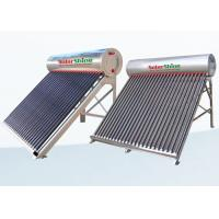 Safety Vacuum Tube Solar Water Heater , Solar Powered Tankless Water Heater for sale