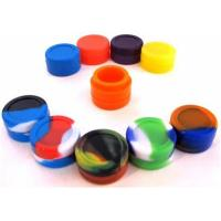 5ml Mixed Color Food Grade Silicone Containers , Anti Dust Silicone Dab Containers