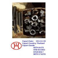 China ASTM A479 UNS S31803 stud bolt with 2 nuts on sale