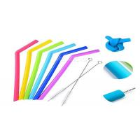 Wholesale Smoothie Reusable Silicone Drinking Straws Environmentally Friendly FDA Approval from china suppliers