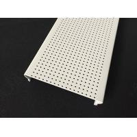Wholesale Micro - perforated C- shaped Aluminium Strip Ceiling , Acoustic Ceiling Panels Traffic white Color from china suppliers