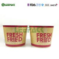 Wholesale Disposable food grade paper popcorn buckets container for take away food packaging from china suppliers