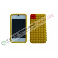 FDA , LFGB Round Dot iPhone 4 Silicone Cases Customized Logo Can be Taken for sale