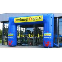 Wholesale 20ft blue durable advertising air arch in sport event ,inflatable square arch for sale from china suppliers