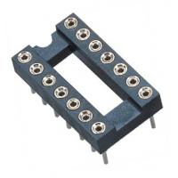 Wholesale 2.54mm IC Socket DIP  Round pin Header H=3.0,L=7.43 Row of Pitch 7.62 black  ROHS from china suppliers