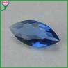 China synthetic dark blue marquise diamond cut glass gems bulk for sale